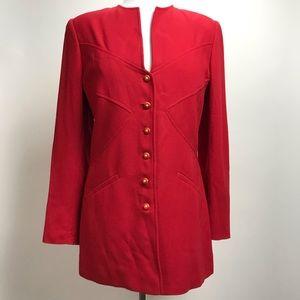 VALENTINO MISS V Red Wool Long Sleeve Blazer